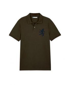 เสื้อโปโลผู้ชาย ปักสิงห์ ผ้าปิเก้
