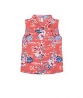 เสื้อเชิ้ตแขนกุดเด็กผู้หญิง พิมพ์ลายซัมเมอร์
