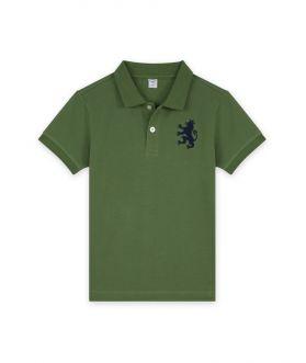 เสื้อโปโลเด็กผู้ชาย ปักสิงห์ ผ้าปิเก้