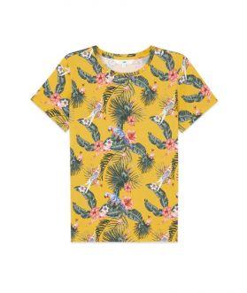 เสื้อยืดผู้หญิง พิมพ์ลายซัมเมอร์