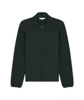 เสื้อแจ็คเก็ตผ้าฟลีซ คอสูง สีพื้น